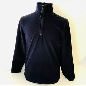 St. John's Bay Mens Fleece 1/4 Zip S Blue Jacket